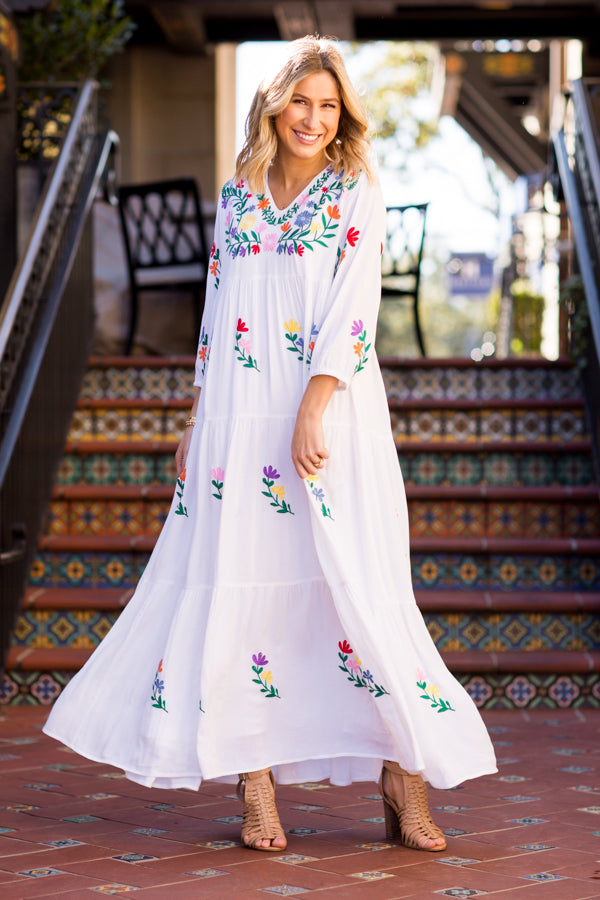 The Madeline Maxi Dress - White