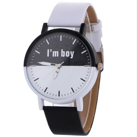 black & white Fancy Unisex Watch [product type] - Bbrandz