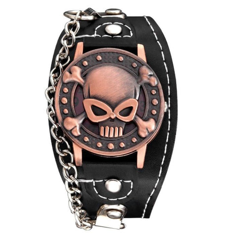 The Skull Design Bracelet Watch For Men [product type] - Bbrandz