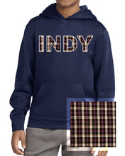 Load image into Gallery viewer, Plaid & Striped Hooded Sweatshirt