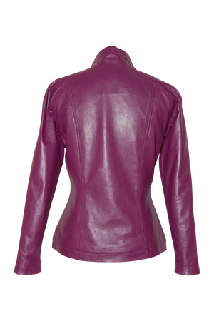 Amethyst Leather Jacket - bella-cosa-ny