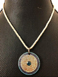 Swarovski Multi-Colored Evil Eye Necklace - bella-cosa-ny