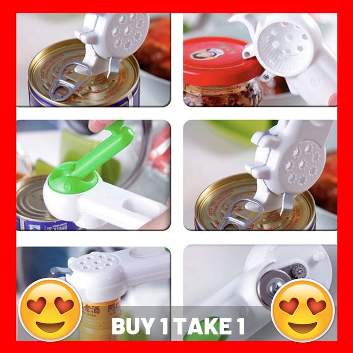 6 in 1 Easy To Use Can Opener (BUY 1 TAKE 1)