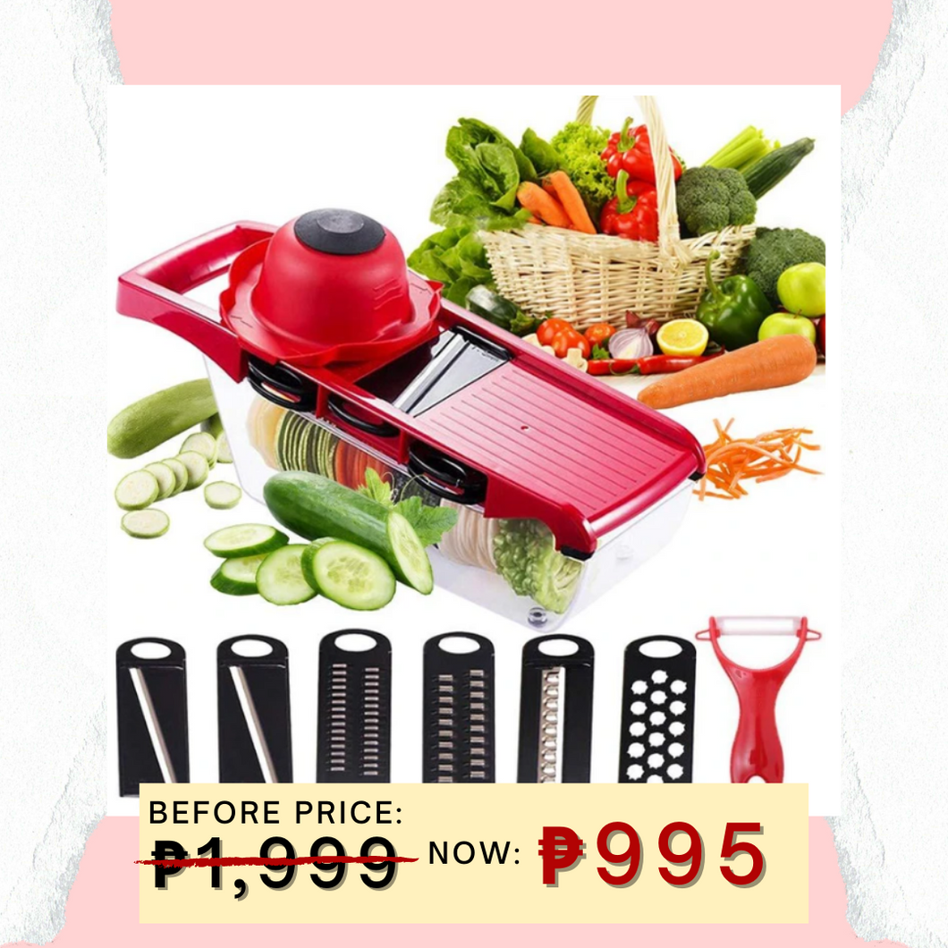 11.11 6-in-1 Multifunctional Mandoline Slicer + FREE GIFT  ⭐⭐⭐⭐⭐