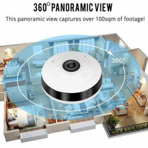 360 PANORAMIC WIFI CCTV CAMERA + FREE ANTI-THEFT ALARM LOCK