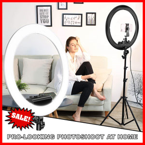 Selfie Pro 26cm LED Photo Studio Ring Light + FREE JADE ROLLER