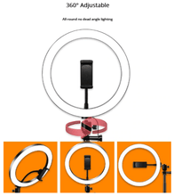 Load image into Gallery viewer, Selfie Pro 26cm LED Photo Studio Ring Light + FREE JADE ROLLER