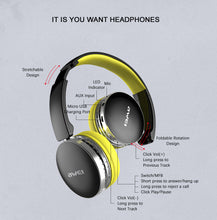 Load image into Gallery viewer, Extra Bass Foldable Hi-Fi Bluetooth Stereo Headset