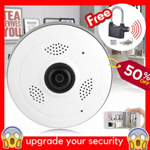 Load image into Gallery viewer, 360 PANORAMIC WIFI CCTV CAMERA + FREE ANTI-THEFT ALARM LOCK