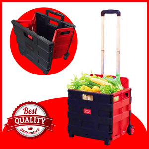 SHOP 'N ROLL Collapsible & Foldable Cart + FREE NIGHT VISION GLASSES
