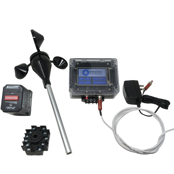 Wired Anemometer Fountain Control Package