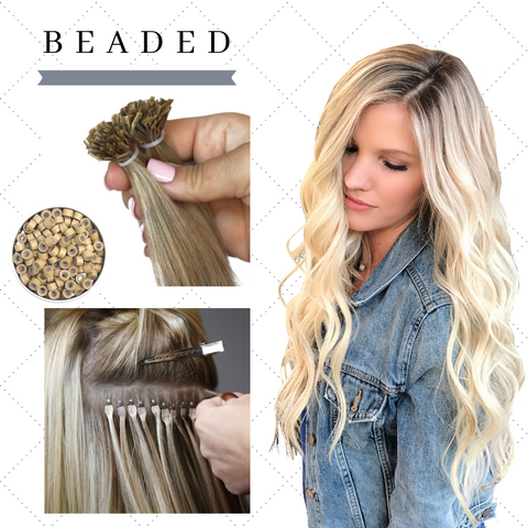 Beaded Remy Hair Extensions