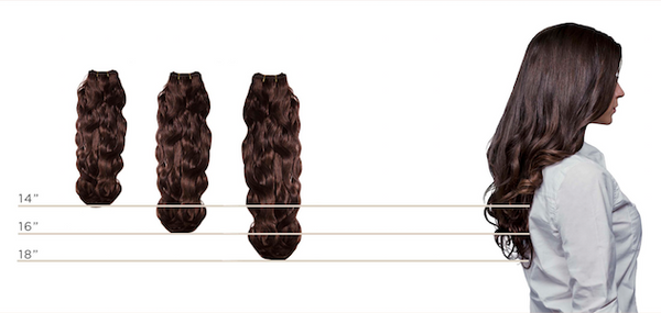 Bohyme Soft Wave Size Chart for Remy Hair