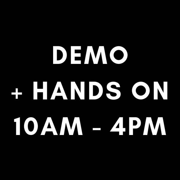 Sewn In Handtied Demonstration + Hands-On 10AM-4PM