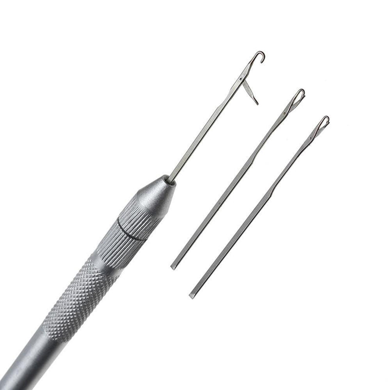 3 Piece Silver Threading Tool - Installation Supplies - Your Hair Shop Extensions - The Best Quality Remy Hair wefts, and shop the best quality remy hair Extensions at Your Hair Shop.
