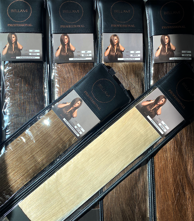 Bellami 100% Remy Human Hair Silky Straight Volume Machine Wefts - Weft Hair - Bellami Professional - The Best Quality Remy Hair wefts, and shop the best quality remy hair Extensions at Your Hair Shop.
