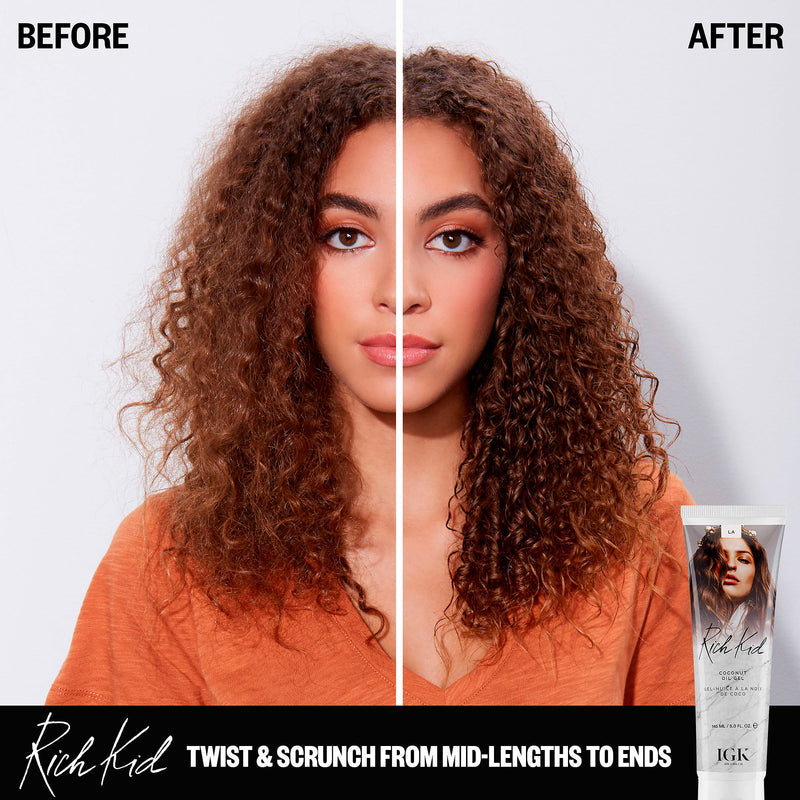 IGK - Rich Kid Coconut Oil Air-Dry Styler - Hair Care Products - IGK - The Best Quality Remy Hair wefts, and shop the best quality remy hair Extensions at Your Hair Shop.