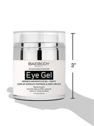 Baebody Eye Gel for Appearance of Dark Circles, Puffiness, Wrinkles and Bags.