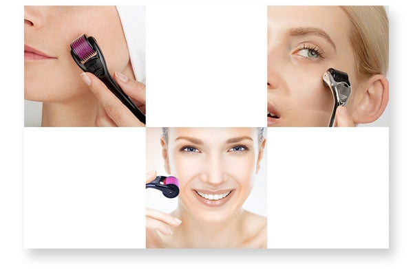 Derma Roller Micro Needles Facial Roller - fly up beauty HD makeup professional make up kattong