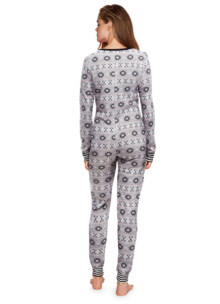 Cozy Lounge Onesie | Warm Waffle Knit Sleeper