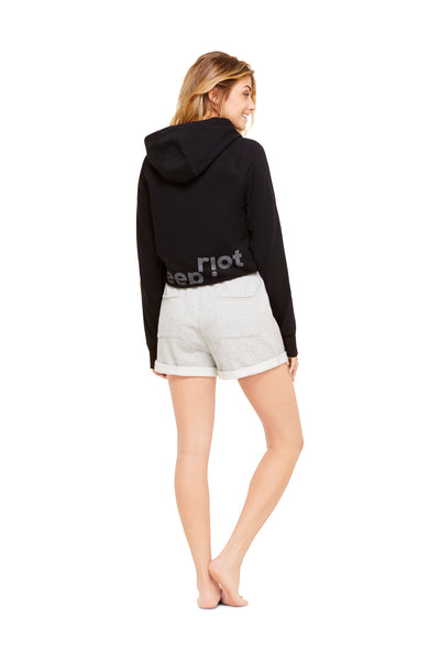 Heather Grey Fleece Short | Soft Casual Women Sleep Bottoms | Lounge & Sleepwear
