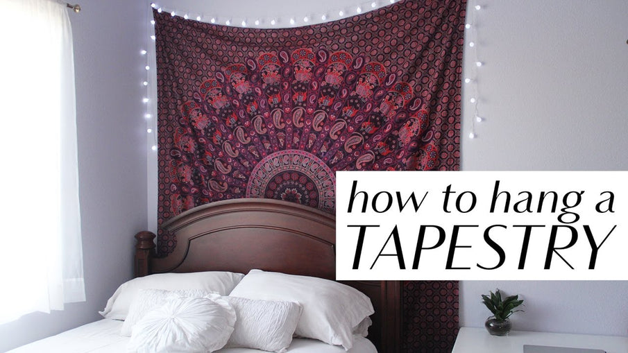 How To Hang A Tapestry