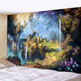 Abstract Dream Forest Tapestry - Tapestry Shopping