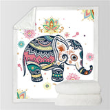 Tapestry Shopping - Tapestries, Hippies and Wall Hangings:Elephant Plush Throw,Elephant Blanket / 150cmx200cm