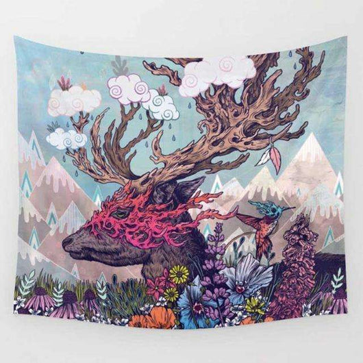 Abstract Deer Tapestry - Tapestry Shopping - Tapestries, Hippies and Wall Hangings