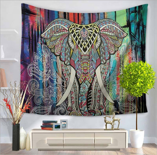 Classical Indian Elephant Tapestry - Tapestry Shopping - Tapestries, Hippies and Wall Hangings