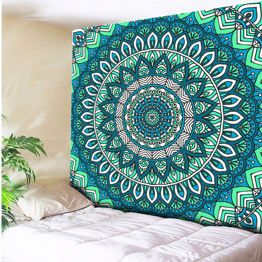 Tapestry Shopping - Tapestries, Hippies and Wall Hangings:Turquoise Psychedelic Wall Hanging