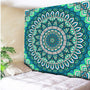 Turquoise Psychedelic Wall Hanging - Tapestry Shopping