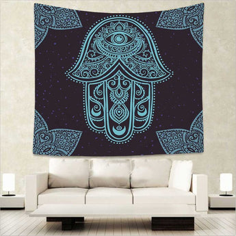 Blue Chakra Tapestry Wall Hanging - Tapestry Shopping