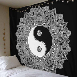 Black & White Water Submerged Tattoo Mandala Tapestry - Tapestry Shopping - Tapestries, Hippies and Wall Hangings