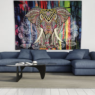 Tapestry Shopping - Tapestries, Hippies and Wall Hangings:Colorful Elephant Tapestry Wall Hanging,Default Title