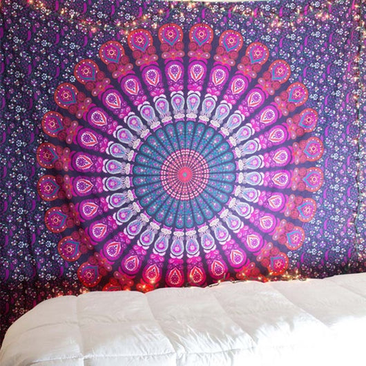 Deep Purple Mandala Tapestry Wall Hanging - Tapestry Shopping - Tapestries, Hippies and Wall Hangings