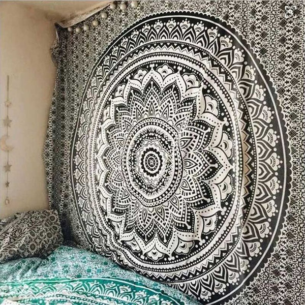 Killer Black & White Mandala Tapestry - Tapestry Shopping