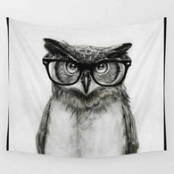 Smart Black & White Owl Tapestry - Tapestry Shopping - Tapestries, Hippies and Wall Hangings