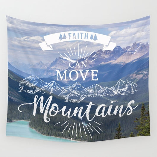 Strong Faith Motivational Tapestry - Tapestry Shopping - Tapestries, Hippies and Wall Hangings