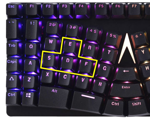 X-Bows Mechanical Ergonomic Keyboard ESDF Gaming Capable Esports