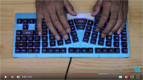 X-Bows Ergonomic Mechanical Keyboard First Look Taekeyboards