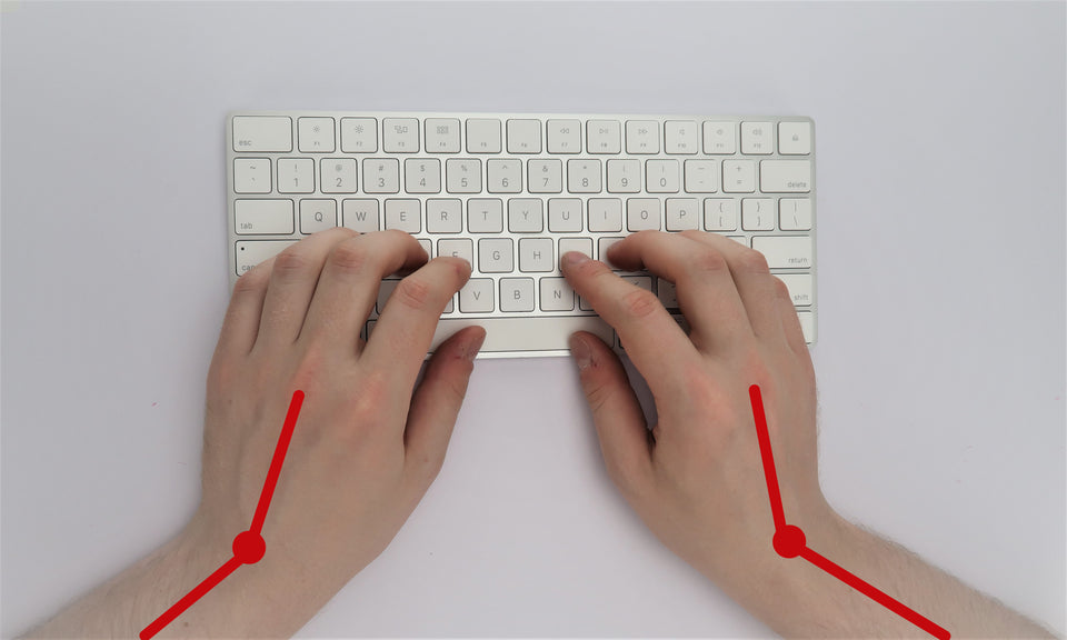Standard keyboards require you to bend your wrists