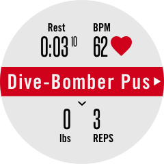 Dive-Bomber Push-Ups requires calibration (red bar)