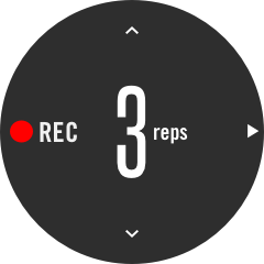 Confirm the number of reps for recording