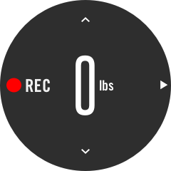 Confirm the weight or load used in the recording