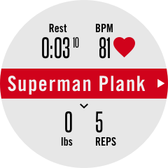 Superman Plank exercise requires calibration
