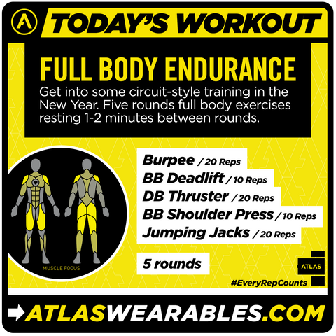 if you do this workout circuitstyle performing 1520 reps for eachhome · if you do this workout circuitstyle performing 1520 reps for each · atlas wearables full body endurance workout circuit