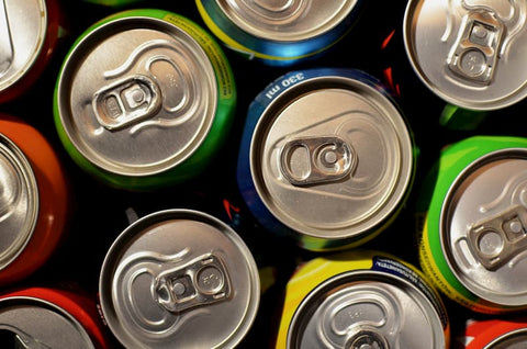 colorful cans of soda