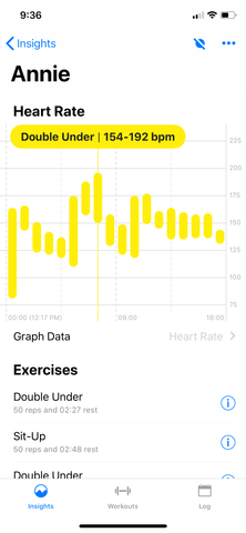 heart rate bars extra info