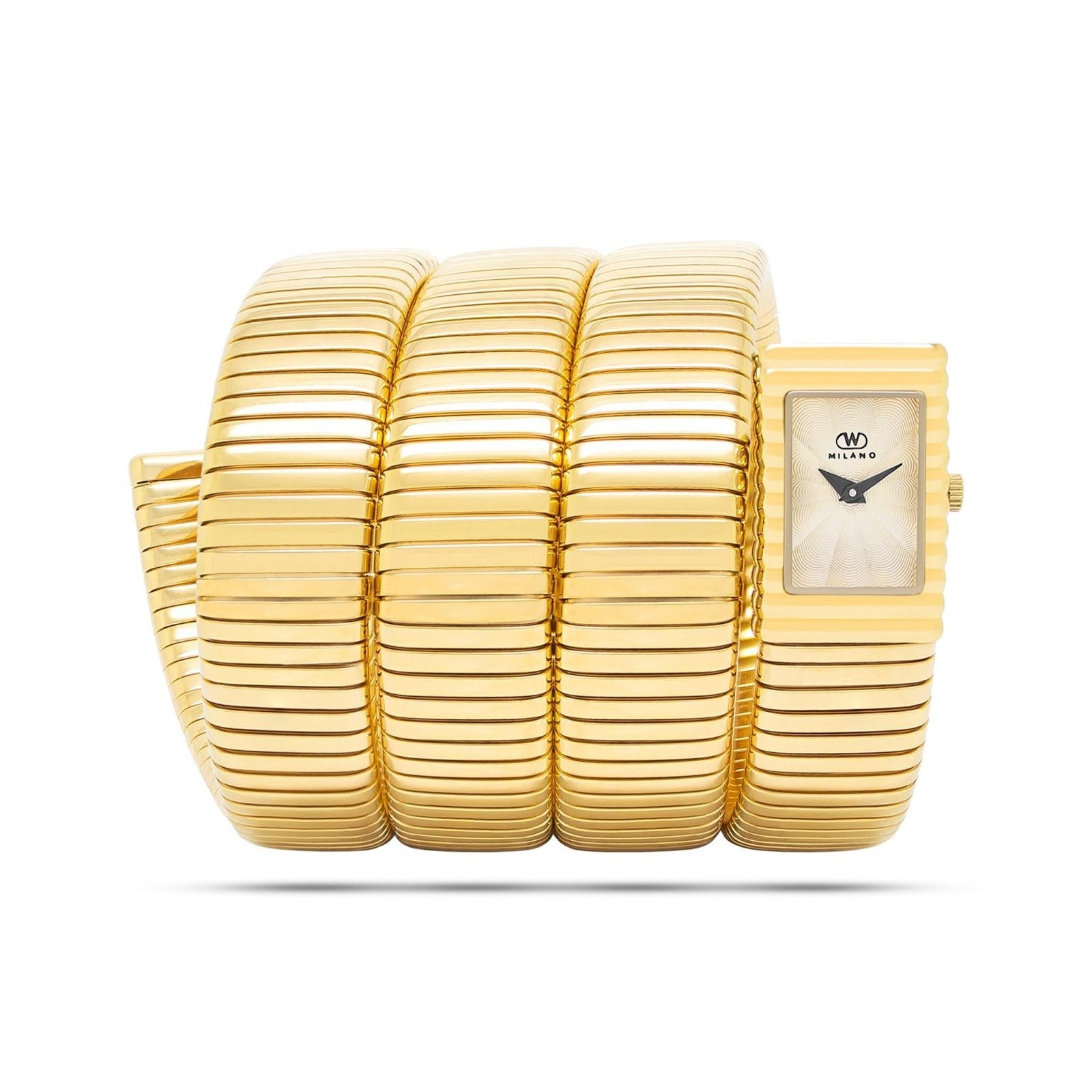 yellow gold wrist-wrapping womens watch